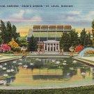 Missouri Botanical Gardens aka Shaw's Garden in St. Louis Missouri MO Linen Postcard - 2883