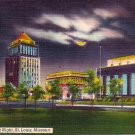 Civic Center at Night at St. Louis Missouri MO, Linen Postcard - 2884