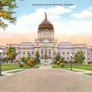 State Capitol at Helena Montana MT, Mid Century Linen Postcard - 2890