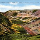 Switchbacks from Picket Pen Creek on Beartooth HWY in Montana MT Postcard - 2894