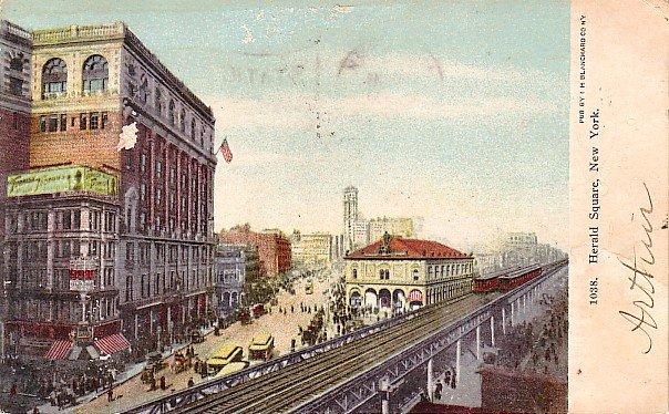 Herald Square in New York City NY, 1905 Vintage Postcard - 2902