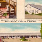 La Contenta Courts and Lodge at Clovis New Mexico NM, 1956 Linen Postcard - 2914