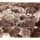 Aerial View of Houston Minnesota MN, Real Photo Post Card RPPC - 2919