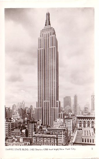 Empire State Building in New York City NY, A. Mainzer Actual Photograph Postcard - 2922