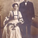 Portrait of Middle Age Couple, Real Photo Post Card RPPC - 2924