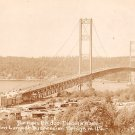 Narrows Bridge in Tacoma Washington WA, Real Photo Post Card RPPC - 2930