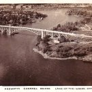 Keewatin Channel Bridge at Lake of the Woods Ontario Canada, Real Photo Post Card - 2932