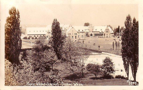 Annie Wright Seminary in Tacoma Washington WA, Real Photo Post Card RPPC - 2942