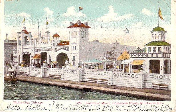 Attractions at White City Amusement Park in Chicago Illinois IL, Postcard - 2973