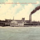 Steamer, City of Louisville Transportation Vintage Postcard - 2983