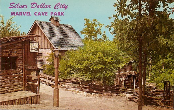 Silver Dollar City Amusement Park in Branson Missouri MO, Curt Teich Chrome Postcard - 2984