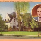 Residence of Errol Flynn in Beverly Hills California CA, Linen Postcard - 2992