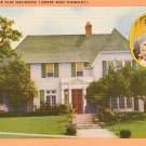 Home of the Nelsons, Ozzie and Harriet, Mid Century Linen Postcard - 3000