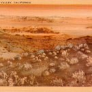 Death Valley at California CA, Mid Century Linen Postcard - 3053