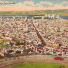 View of San Francisco from Twin Peaks in California CA, 1950 Linen Postcard - 3075