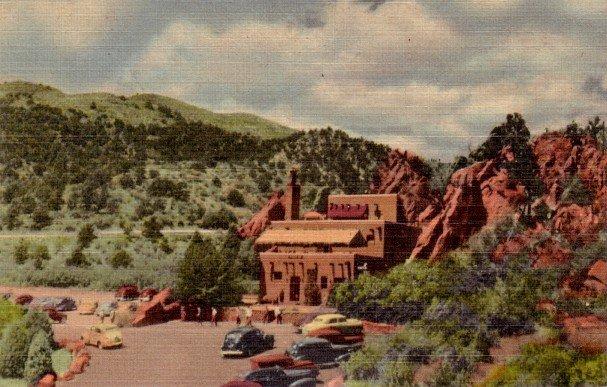 Hidden Inn at Garden of the gods in Colorado CO, 1949 Curt Teich Postcard - 3079