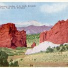 Gateway to the Garden of the gods in Colorado CO, Linen Postcard - 3087