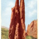 The Three Graces at the Garden of gods in Colorado CO, Linen Postcard - 3088
