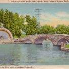Band Shell and Bridge over Lake Clara at Mineral Palace Park in Pueblo Colorado CO, Postcard - 3091