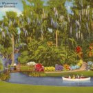 Winding Waterways of Cypress Gardens in Florida FL, 1948 Curt Teich Postcard - 3116