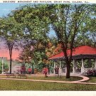 Soldiers Monument and Pavilion at Grant Park in Galena Illinois IL, Postcard - 3164