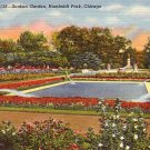 Sunken Garden at Humboldt Park in Chicago Illinois IL, 1941 Curt Teich Postcard - 3167