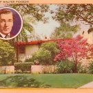 Home of Walter Pidgeon in California CA, Linen Postcard - 3195