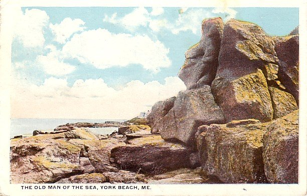 The Old Man of the Sea at York Beach Maine ME, Vintage Postcard - 3197