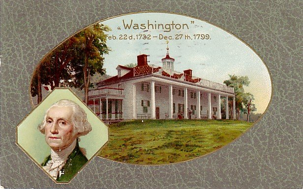 George Washington Patriotic Memorial, 1909 John O. Winsch Vintage Postcard - 3200