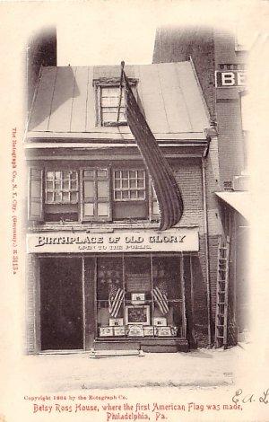 Betsy Ross Home in Philadelphia Pennsylvania PA, Rotograph Co. Vintage Postcard - 3202