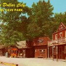 Street Scene of Popcorn Wagon at Silver Dollar City in Branson Missouri MO, Chrome Postcard - 3207