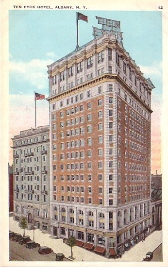 Ten Eyck Hotel in Albany New York NY, Vintage Postcard - 3226