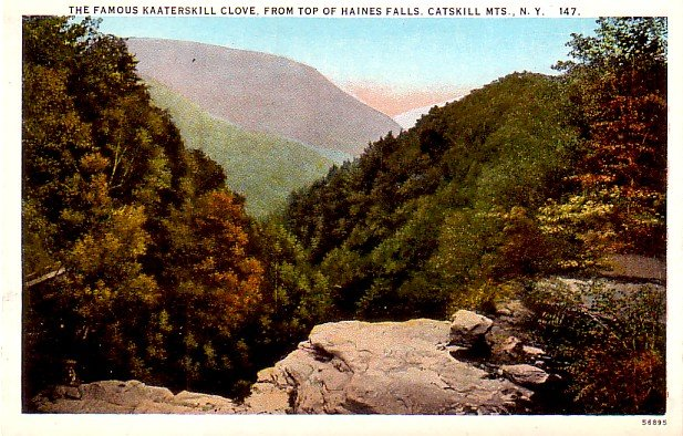 Kaaterskill Clove from Haines Falls at Catskill Mountains New York NY, Postcard - 3258