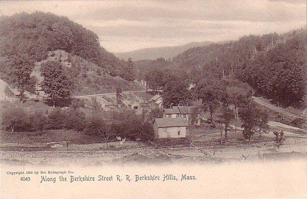 Berkshire Street R.R. at Berkshire Hills Massachusetts MA, 1905 Rotograph Co. Postcard - 3267