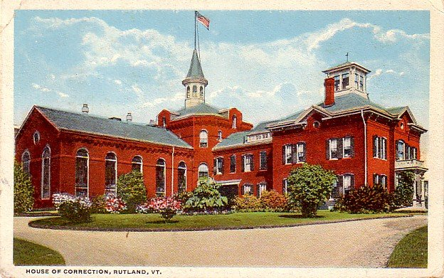 House of Correction at Rutland Vermont VT, 1919 Vintage Postcard - 3279