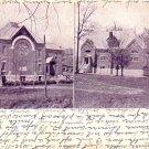 Chapel and T.C.A. Gymnasium at Poultney Vermont VT, 1919 Vintage Postcard - 3280