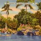 The Venetian Pool at Coral Gables Florida FL, Linen Postcard - 3290