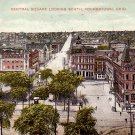 Central Square Looking North at Youngstown Ohio OH, 1908 Vintage Postcard - 3292