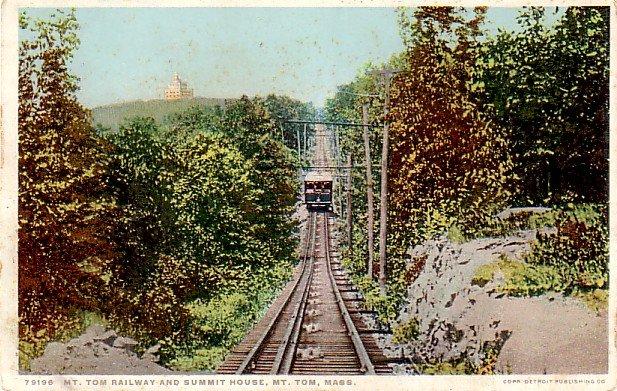 Mt. Tom Railway and Summit House in Massachusetts MA, Detroit Publishing Postcard - 3297