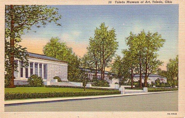 Museum of Art in Toledo Ohio OH, 1938 Curt Teich Postcard - 3314
