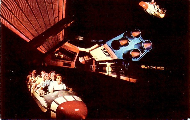 Space Mountain Roller Coaster at The Magic Kingdom in Walt Disney World Florida FL, Postcard - 3327