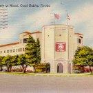University of Miami Stadium in Coral Gables Florida FL, Linen Postcard - 3331