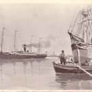 Red Star Line from Antwerpen, 1910 Vintage Postcard - 3345