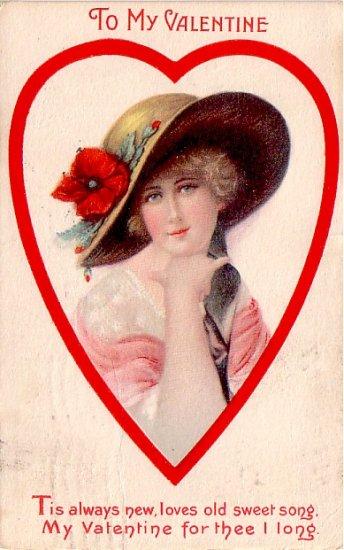 To My Valentine, 1920 Vintage Postcard - 3353