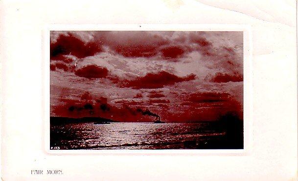 Fair Morn, Two Ships Passing, 1907 Rotograph Co. Real Photograph Postcard - 3379