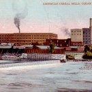 American Cereal Mills at Cedar Rapids Iowa IA, 1908 Vintage Postcard - 3386