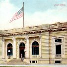 Post Office at Clinton Iowa IA, Vintage Postcard - 3387