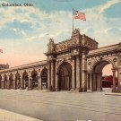 Union Station at Columbus Ohio OH, 1916 Curt Teich Vintage Postcard - 3390