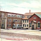 Pillsbury's Shoe Factory at Derry New Hampshire NH, Vintage Postcard - 3397