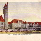 Union R.R. Station at St. Louis Missouri MO, Vintage Postcard - 3398